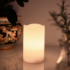 Pillar candle with timer