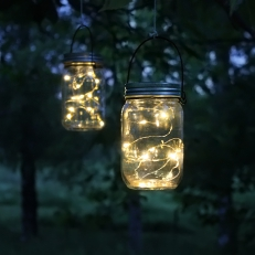 Solar-powered Glass Lantern