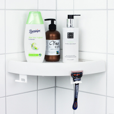 Bathroom shelf with Quick Attachment