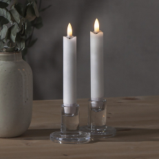 Short battery operated candle, 2-pack