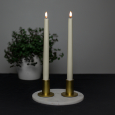 Premium LED antique candle 2-pack